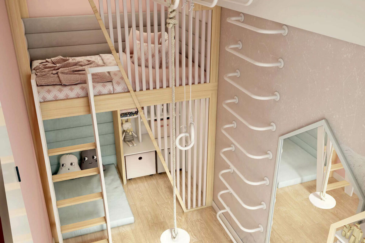 Мебель для детской комнаты девочки проект 3753-3