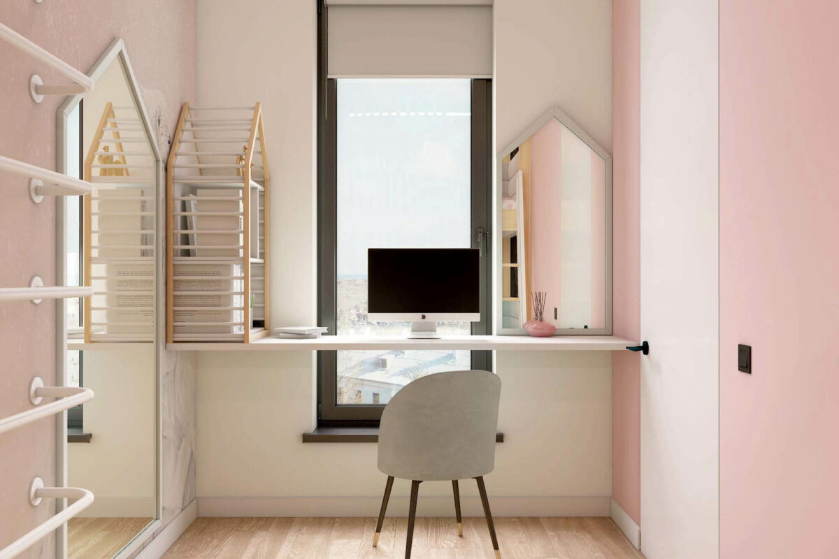 Мебель для детской комнаты девочки проект 3753-4