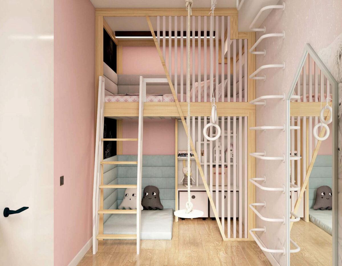 Мебель для детской комнаты девочки проект 3753-5