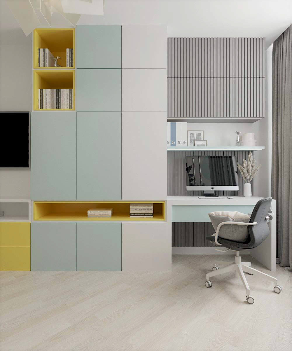 Мебель для детской комнаты мальчика проект 3669-1
