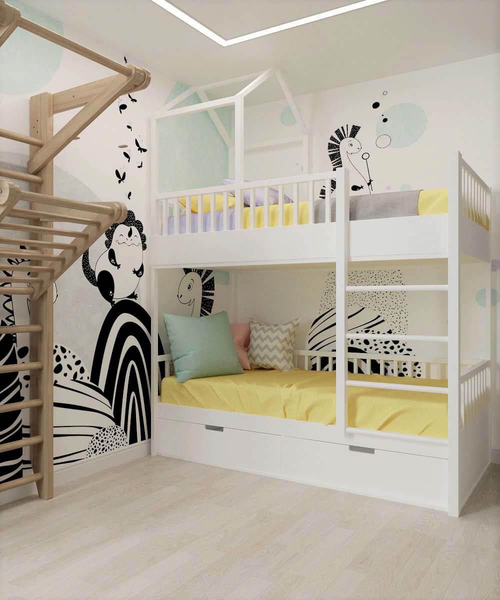 Мебель для детской комнаты мальчика проект 3669-10