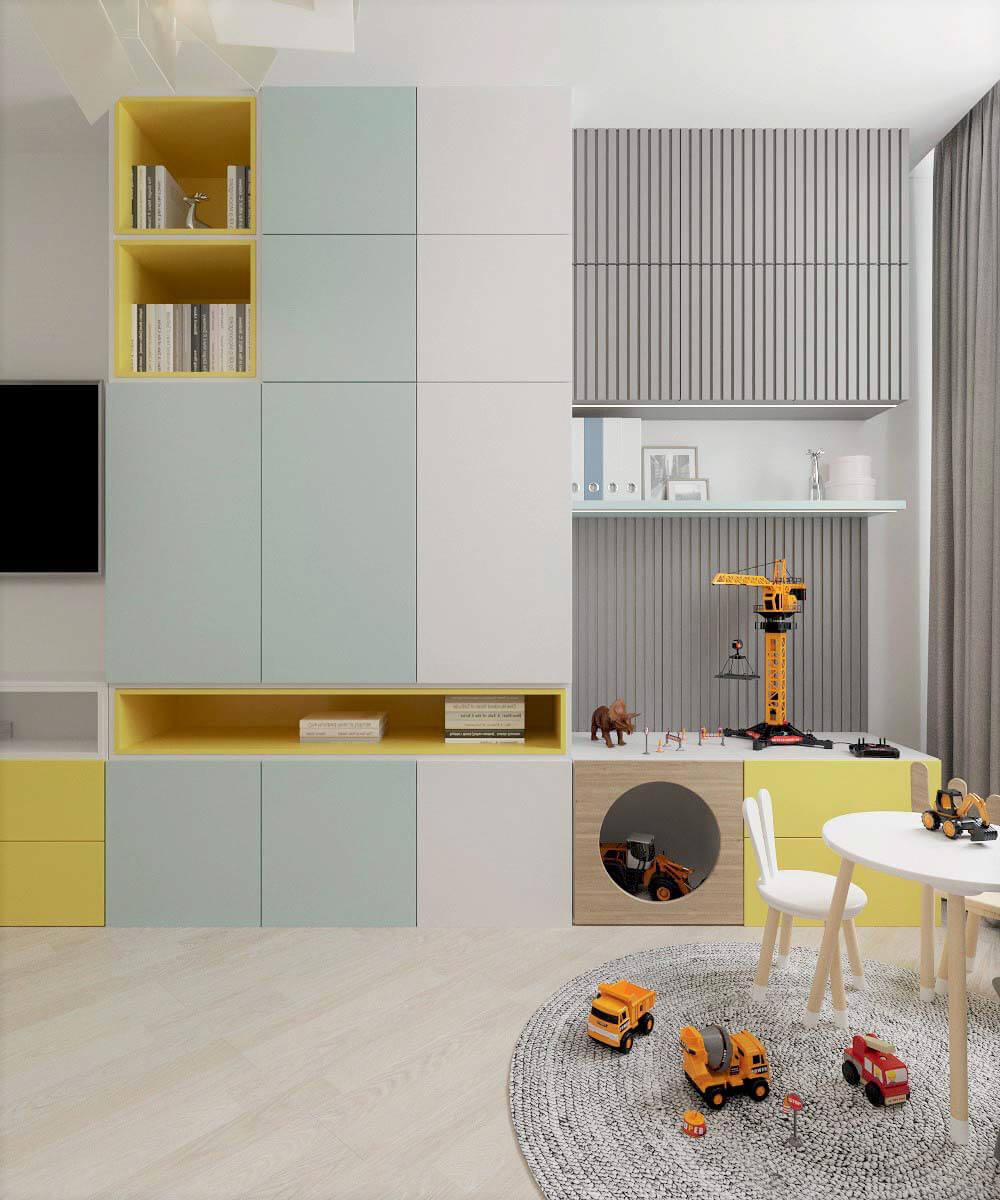 Мебель для детской комнаты мальчика проект 3669-2