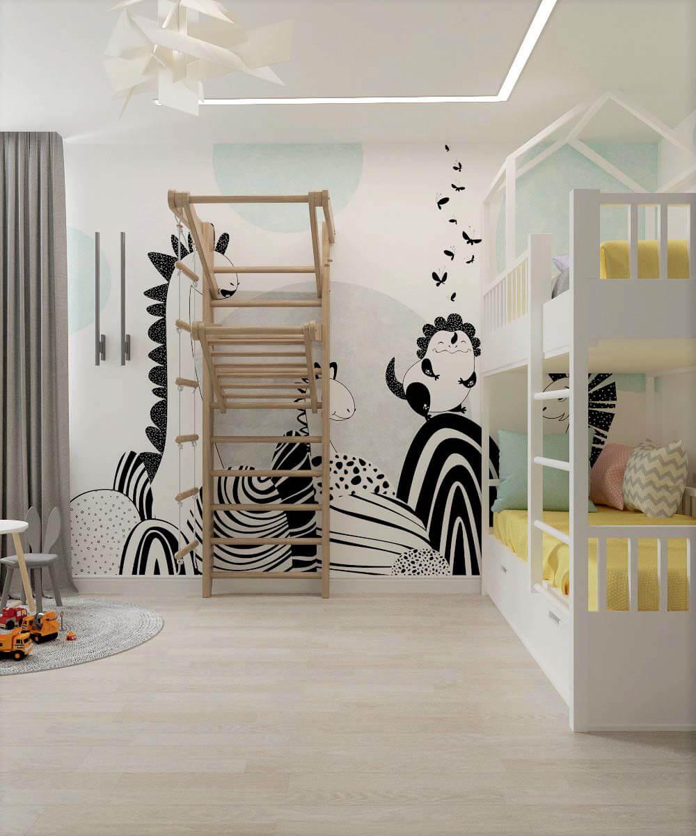 Мебель для детской комнаты мальчика проект 3669-3