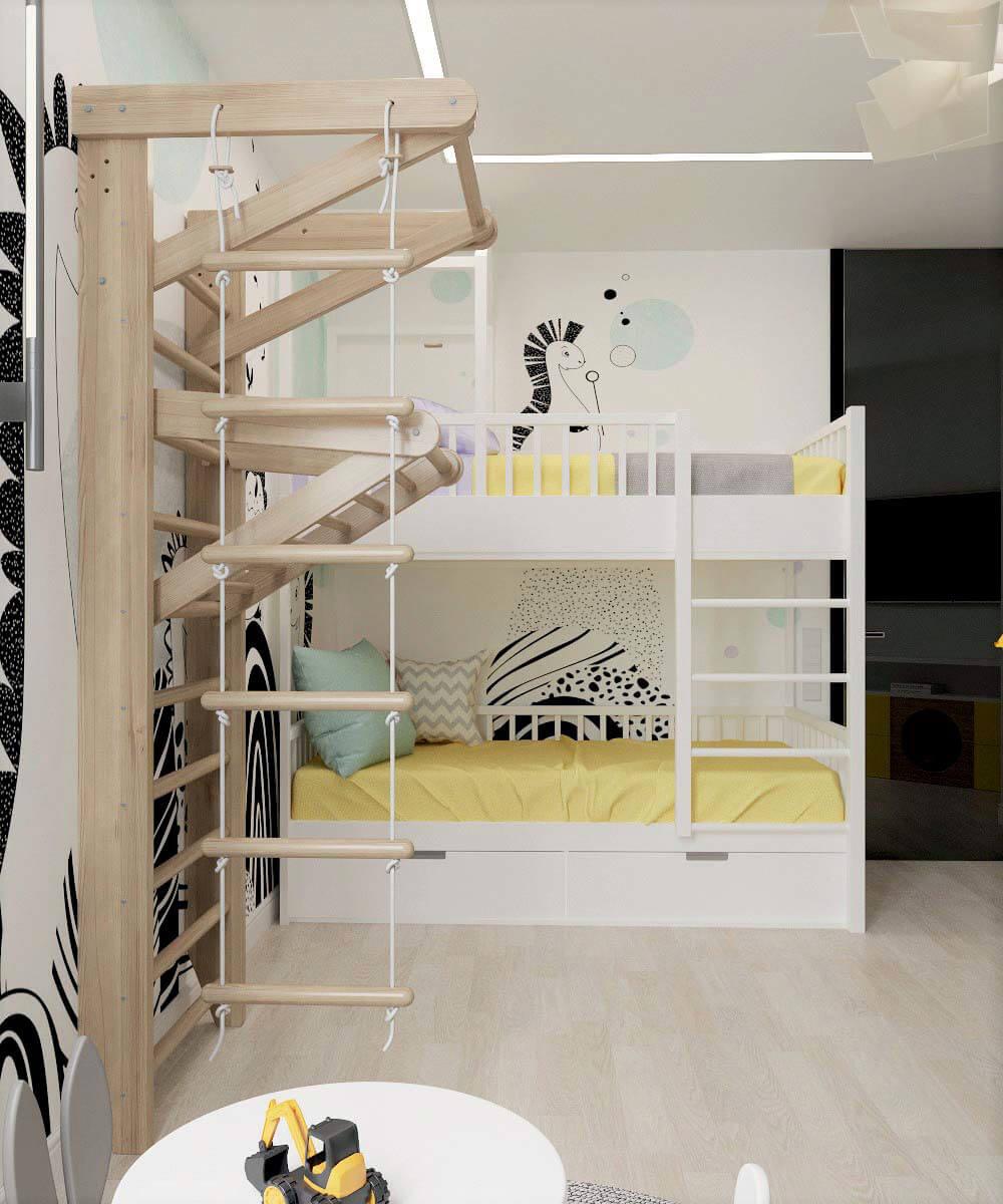 Мебель для детской комнаты мальчика проект 3669-4