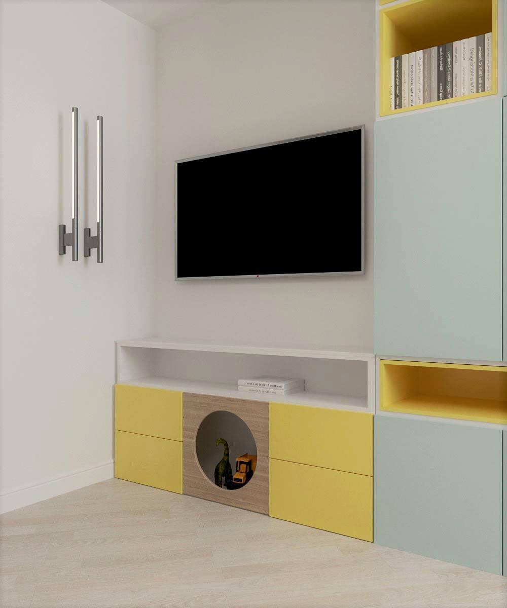 Мебель для детской комнаты мальчика проект 3669-5