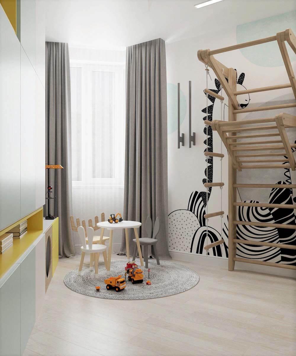 Мебель для детской комнаты мальчика проект 3669-7
