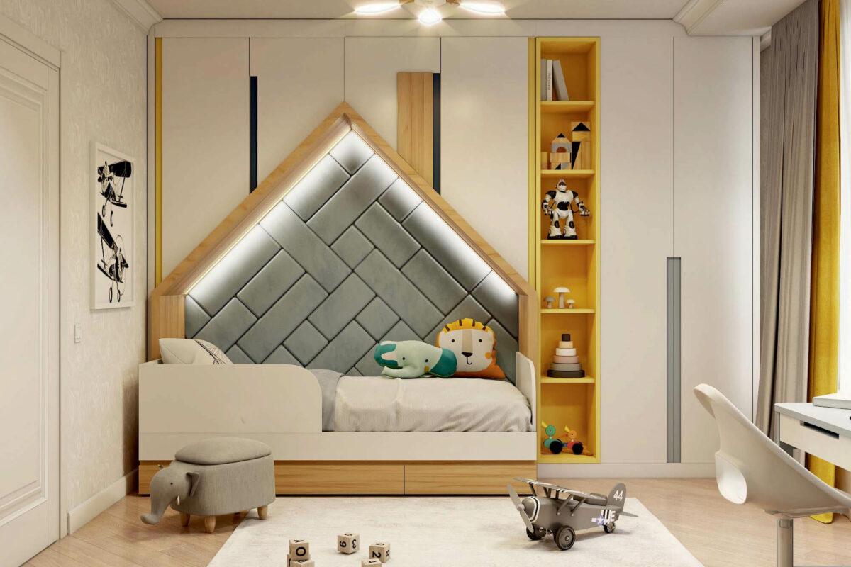 Мебель для детской комнаты мальчика проект 3861-1