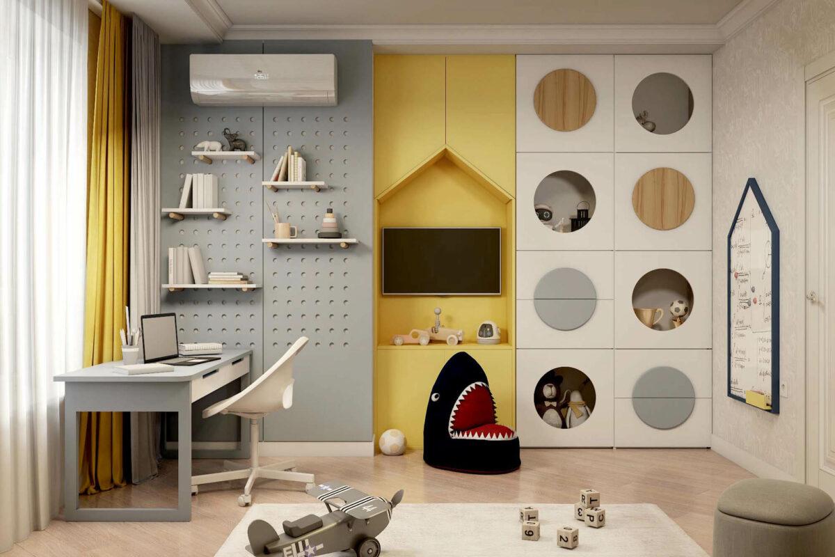 Мебель для детской комнаты мальчика проект 3861-2