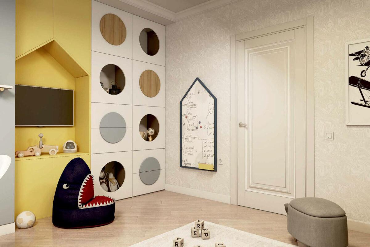 Мебель для детской комнаты мальчика проект 3861-3