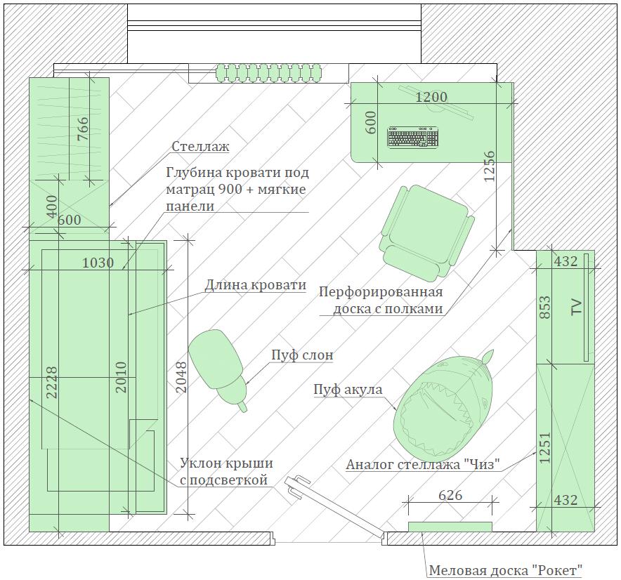 Мебель для детской комнаты мальчика проект 3861-6