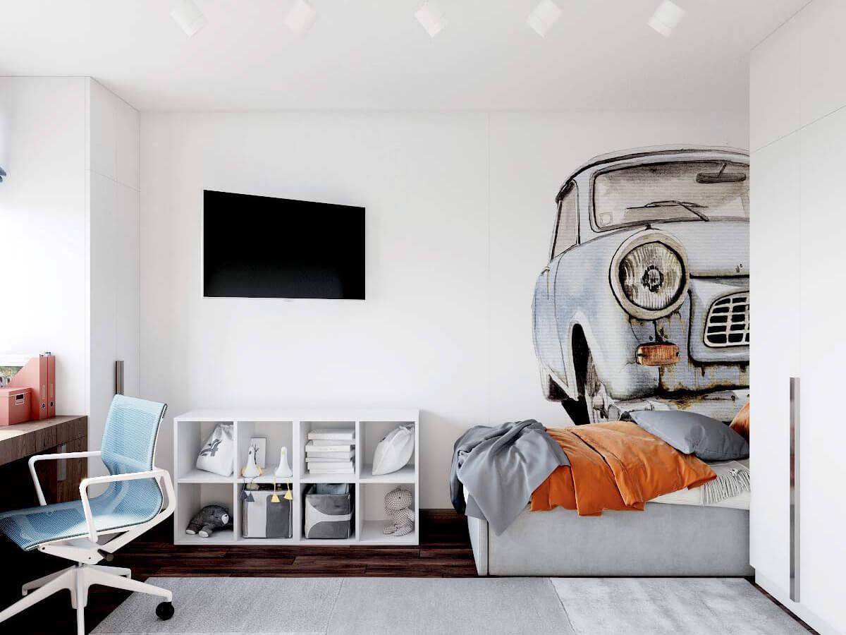 Мебель для детской мальчика проект 3417-2