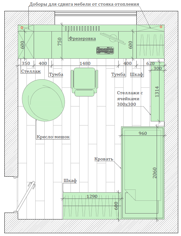 Мебель для детской мальчика проект 3417-5