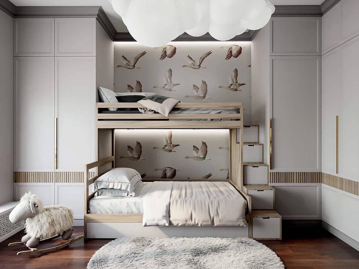 Мебель для детской мальчика и девочки проект 3543-2