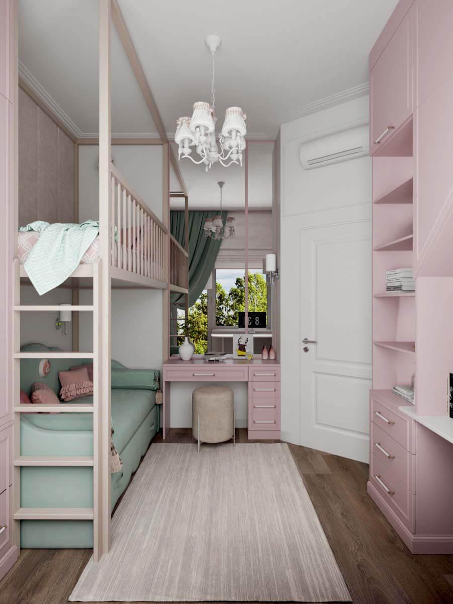 Мебель для детской спальни девочки проект 3371-1