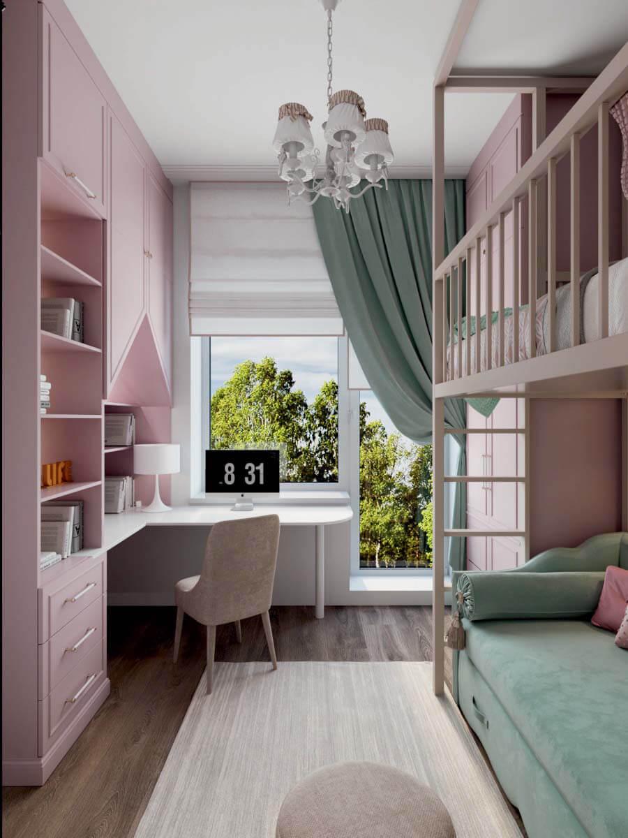 Мебель для детской спальни девочки проект 3371-3