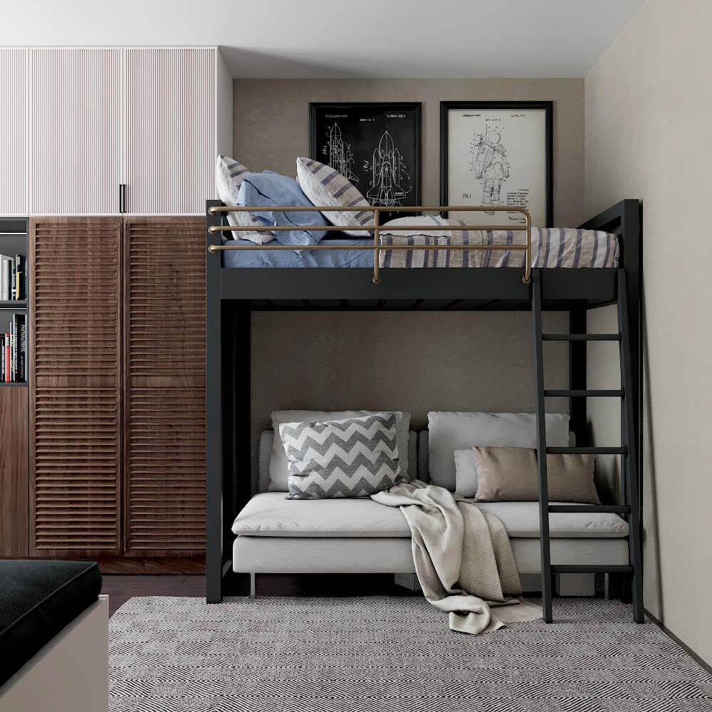 Мебель для детской спальни мальчика проект 3243 фото 5