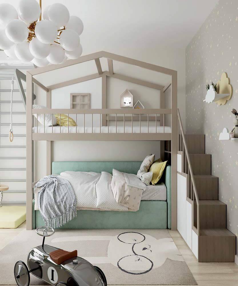 Мебель для детской спальни мальчика проект 3361-1