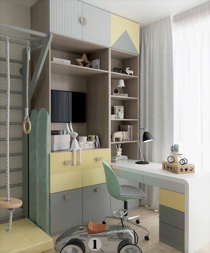 Мебель для детской спальни мальчика проект 3361-3