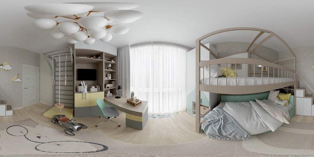 Мебель для детской спальни мальчика проект 3361-4