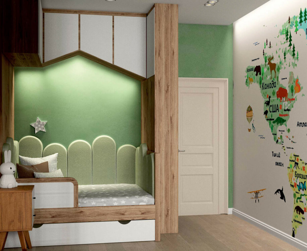 Мебель для игровой комнаты мальчика проект 3395-6