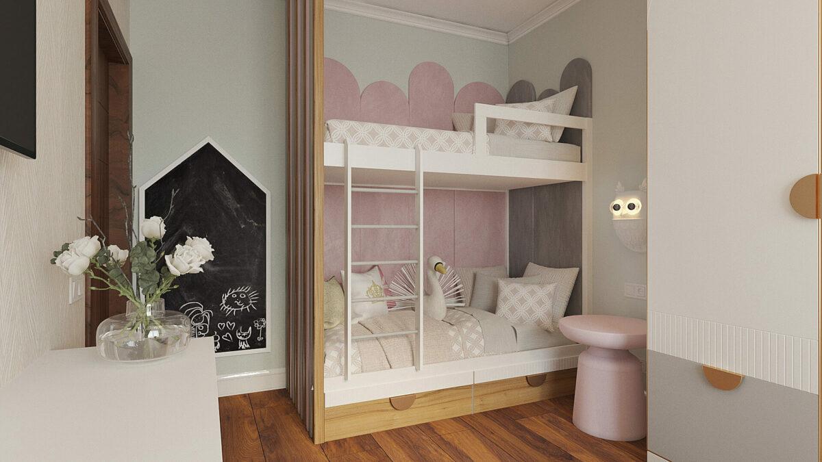 Мебель для комнаты девочки-подростка проект 3485-1