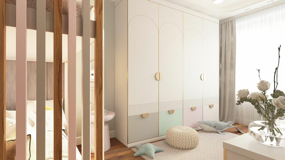 Мебель для комнаты девочки-подростка проект 3485-2