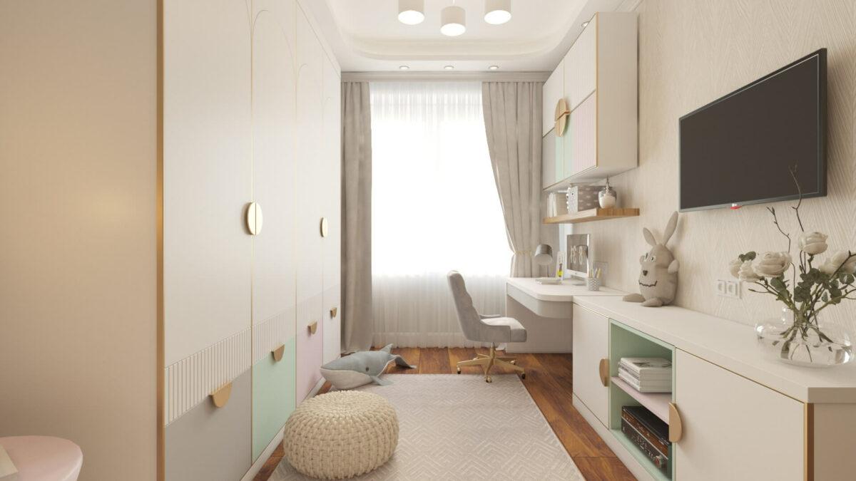 Мебель для комнаты девочки-подростка проект 3485-4