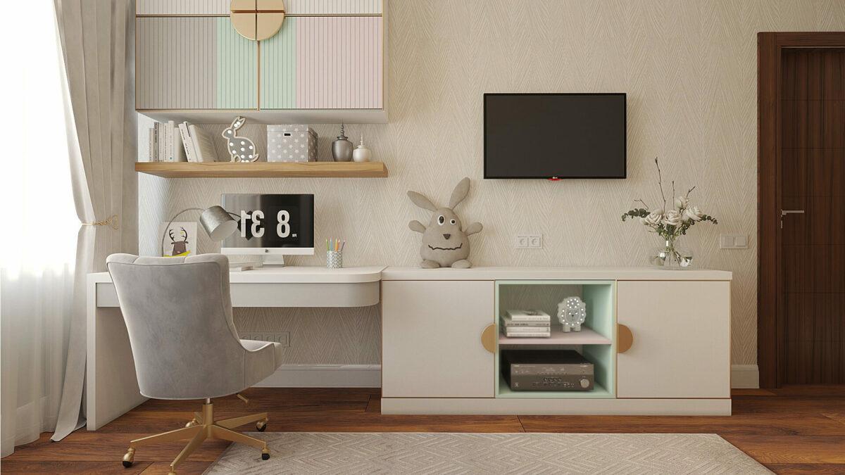 Мебель для комнаты девочки-подростка проект 3485-5