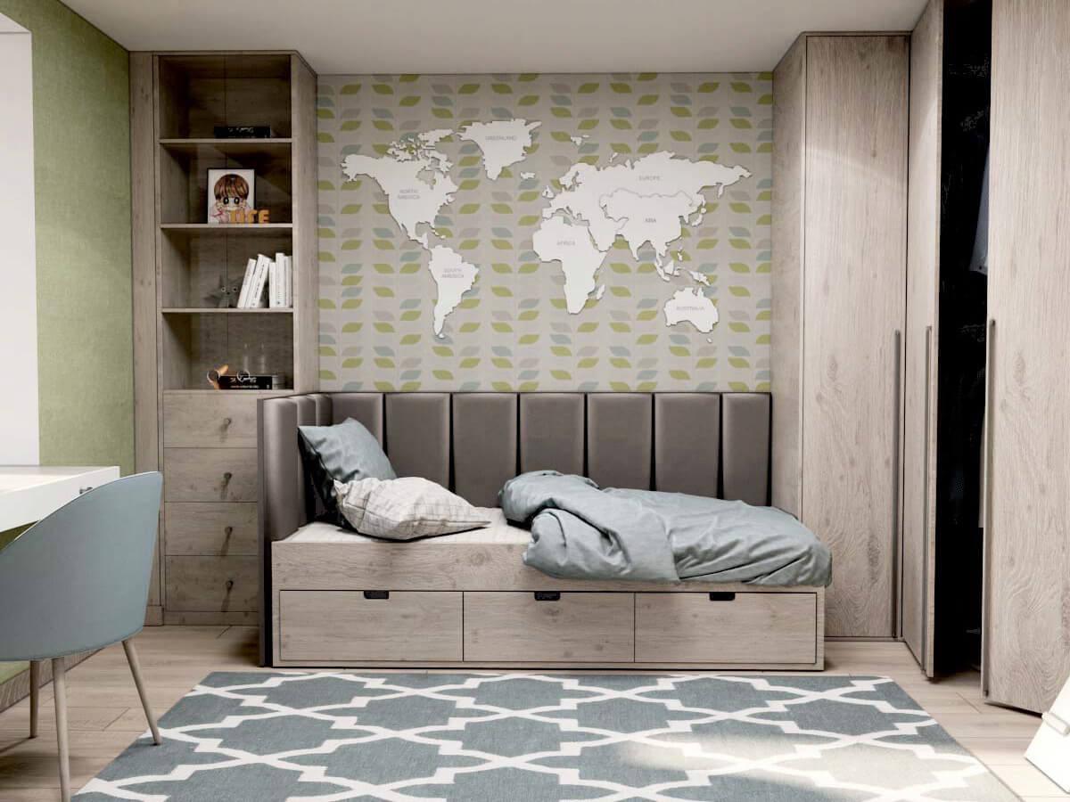 Мебель для подростковой комнаты мальчика проект 3231-1
