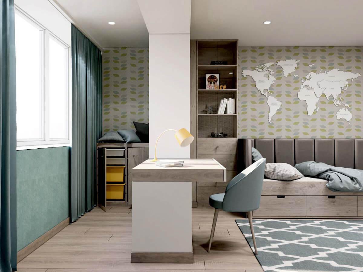 Мебель для подростковой комнаты мальчика проект 3231-2
