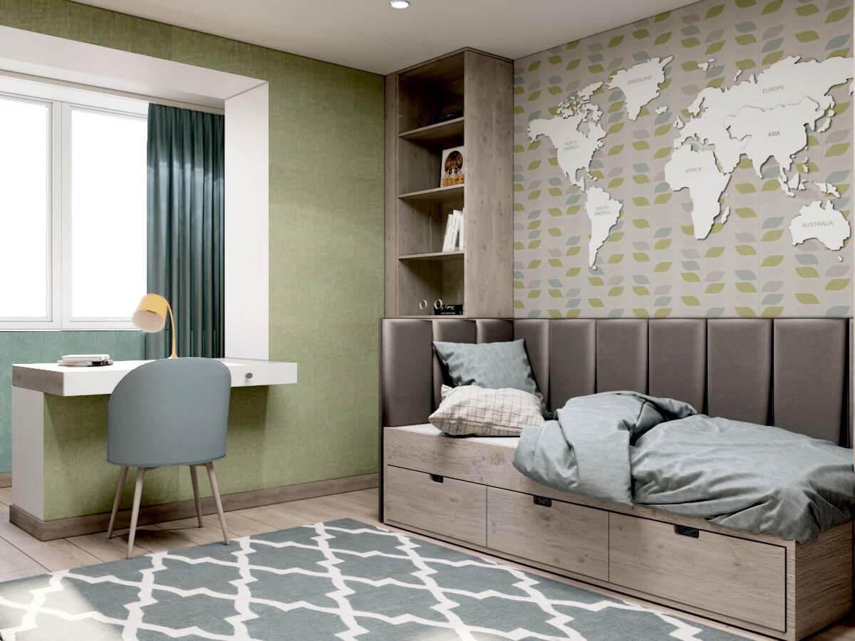 Мебель для подростковой комнаты мальчика проект 3231-5