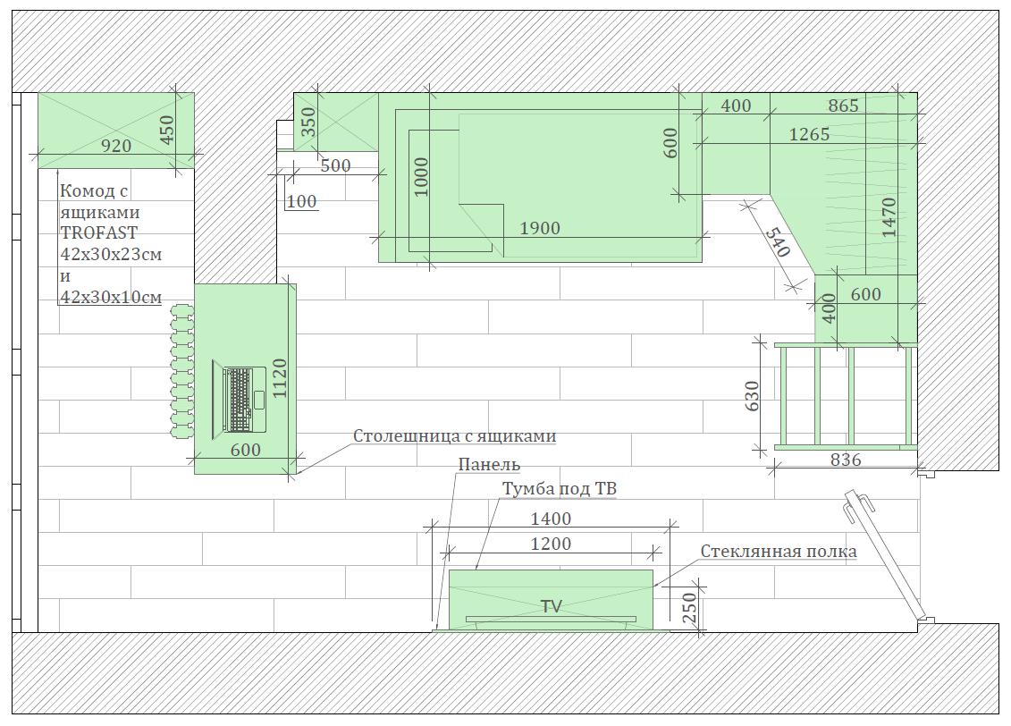 Мебель для подростковой комнаты мальчика проект 3231-6