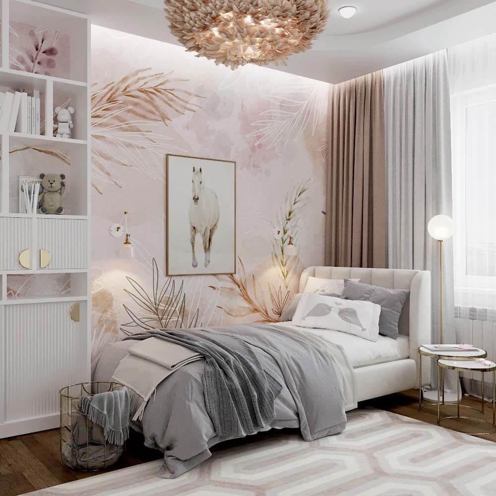 Мебель для спальни девочки 6 лет проект 3449-1