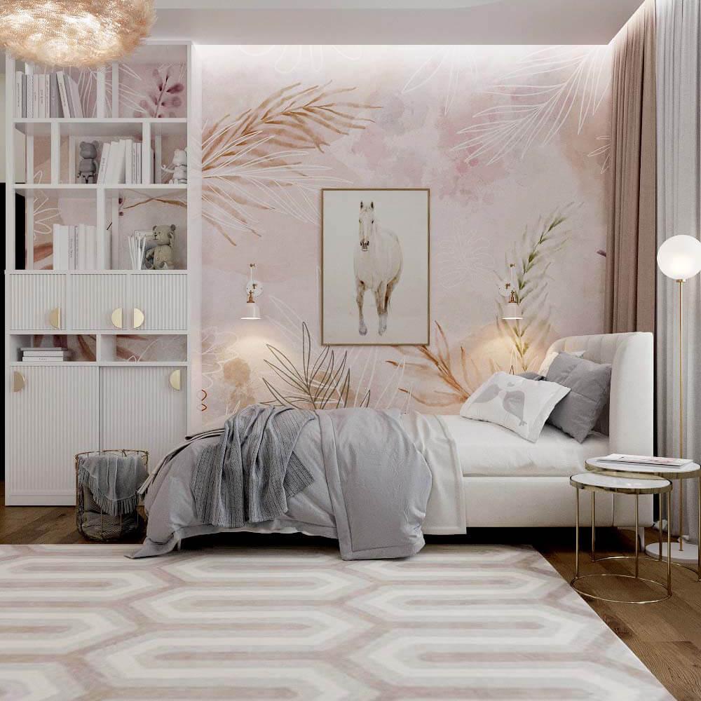Мебель для спальни девочки 6 лет проект 3449-2
