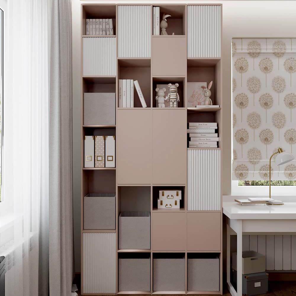 Мебель для спальни девочки 6 лет проект 3449-5