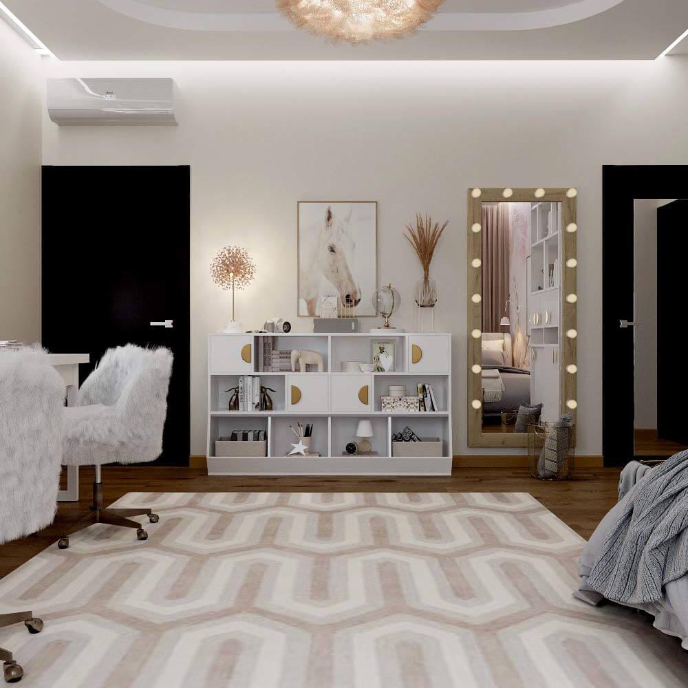 Мебель для спальни девочки 6 лет проект 3449-6