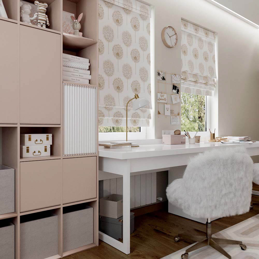 Мебель для спальни девочки 6 лет проект 3449-7