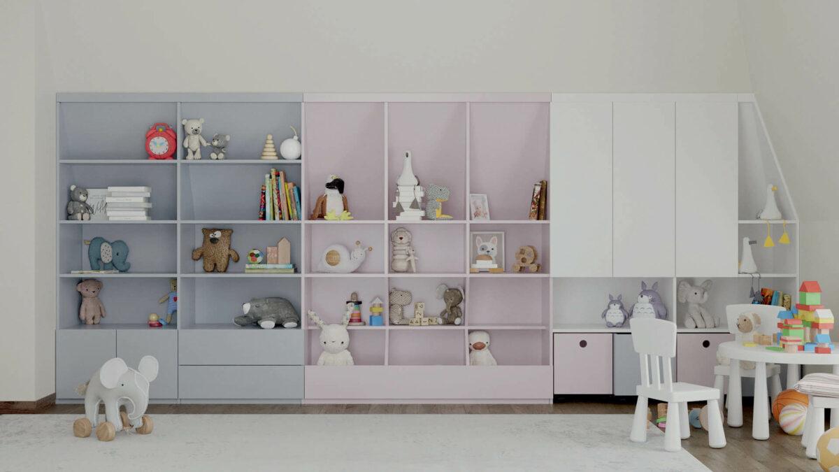 Мебель игровой комнаты детей проект 4727-1