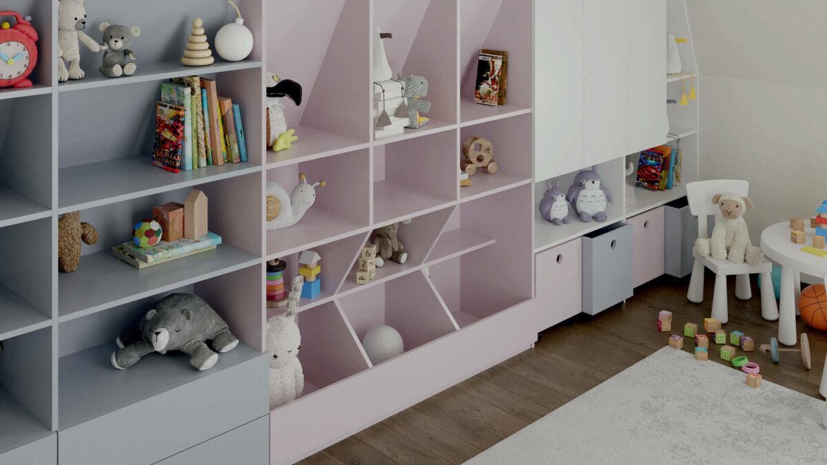 Мебель игровой комнаты детей проект 4727-2
