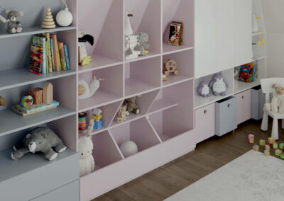 Мебель в игровую комнату малышей — проект 4727