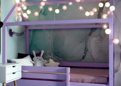 Мебель в игровую комнату для девочки 8 лет — проект 4381