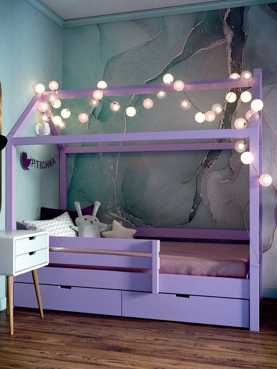 Мебель игровой комнаты для девочки 8 лет проект 4381-10