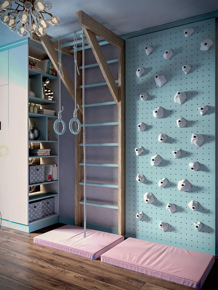 Мебель игровой комнаты для девочки 8 лет проект 4381-5