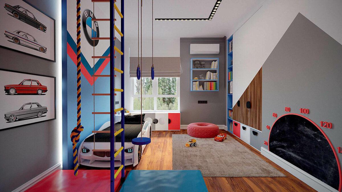 Мебель игровой комнаты для мальчика проект 3427-2-1