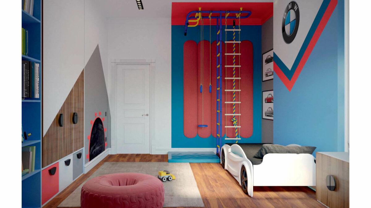 Мебель игровой комнаты для мальчика проект 3427-2-3