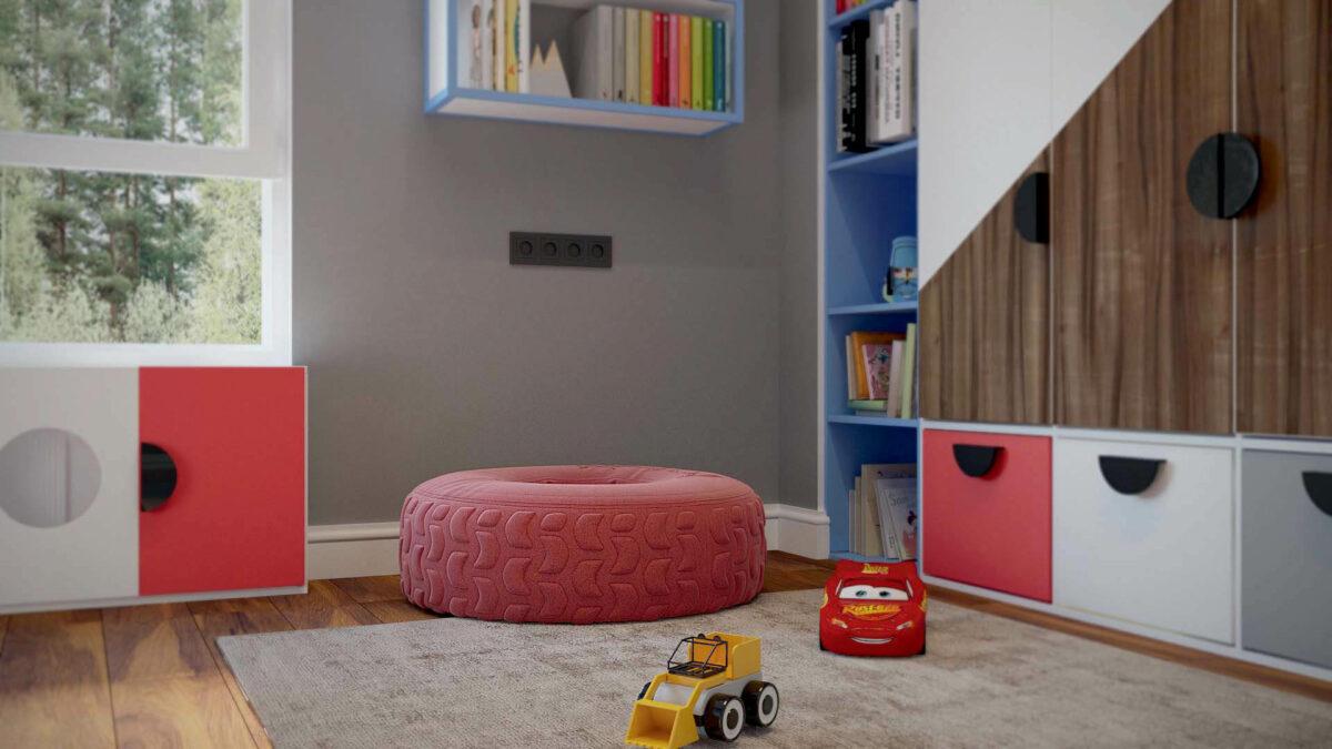Мебель игровой комнаты для мальчика проект 3427-2-4