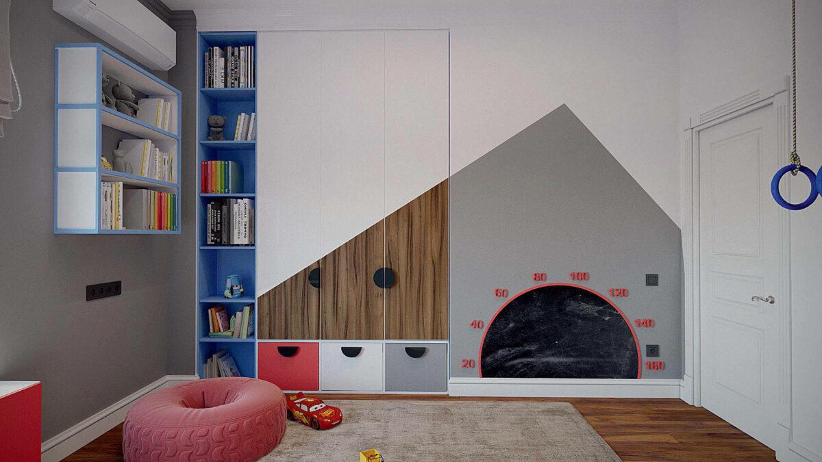 Мебель игровой комнаты для мальчика проект 3427-2-5