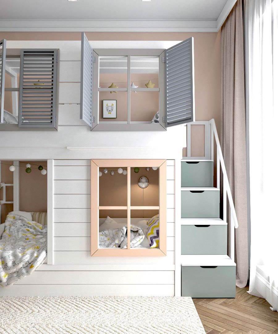 Мебель игровой комнаты для разнополых детей проект 3817-1