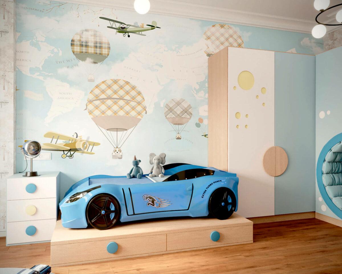 Мебель игровой комнаты мальчика проект 4527-1