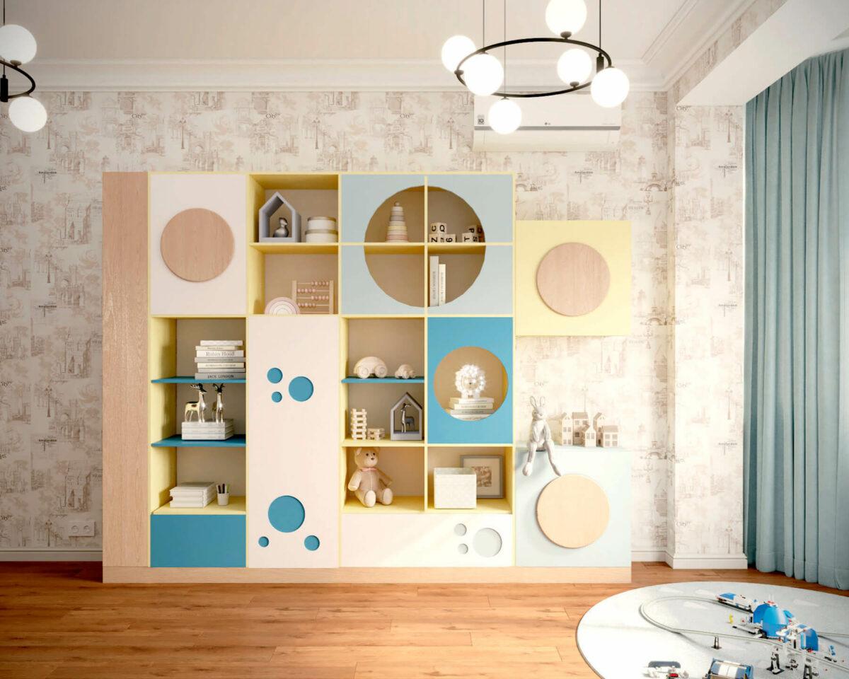 Мебель игровой комнаты мальчика проект 4527-2